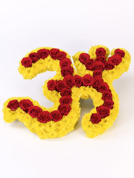 OM Hindu Flower Arrangement for Funerals