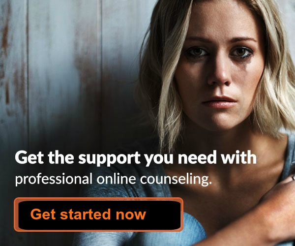 Woman Crying. Get Started with Online Counselling