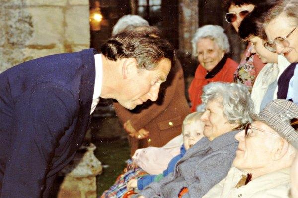 Prince Charles visiting patients at Marshlands Nursing Home