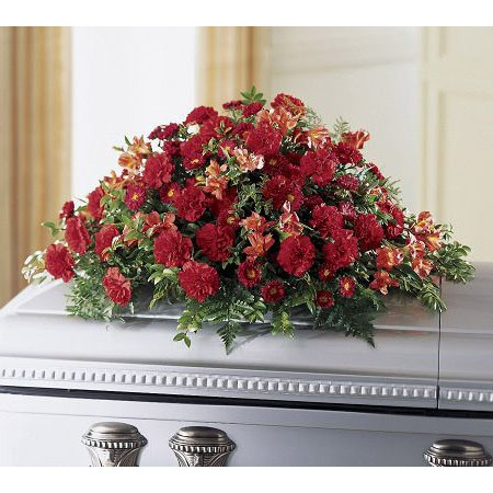 Deep Red Funeral Flowers for Men