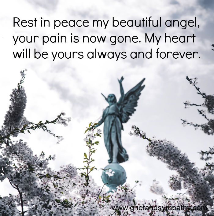 Rest in peace my beautiful angel quote