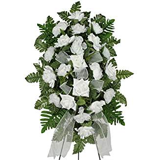 Silk Funeral Flowers - White