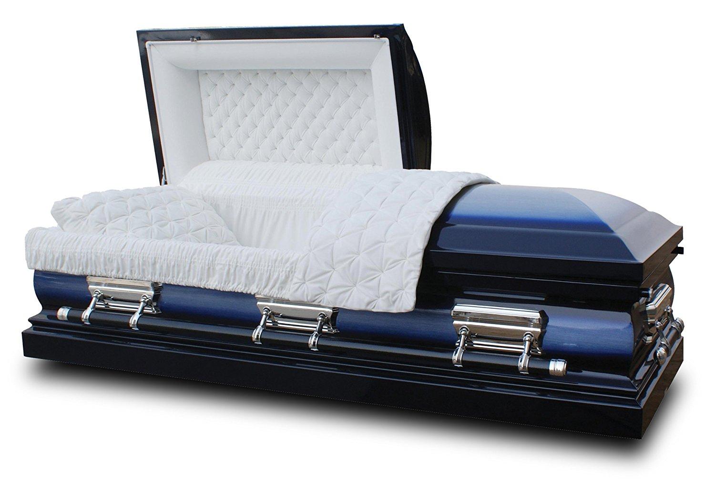Midnight Blue Casket Coffin