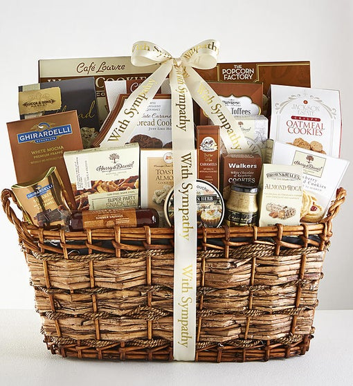 Sympathy Basket - You're in our Thoughts - Baked Goods and Treats