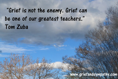 Grief is not the enemy. Grief can be one of our greatest teachers. - Tom Zuba