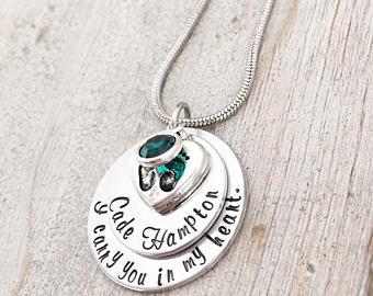 baby memorial charm necklace sympathy gift