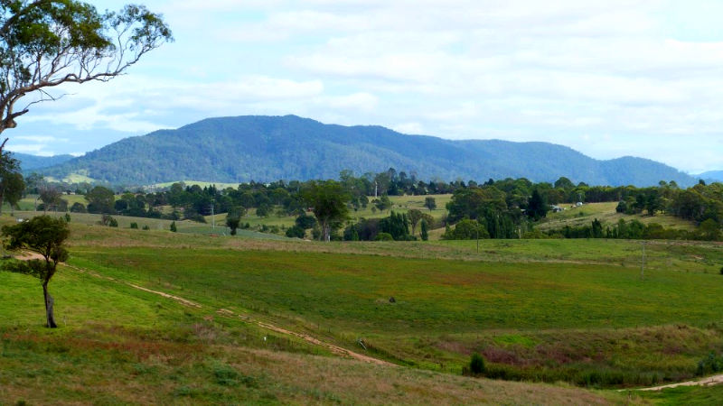 Green landscape of the Bega Valley NSW, Australia.