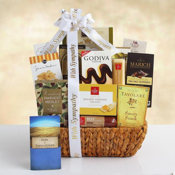 Gourment sympathy gift basket from Best Gift Baskets