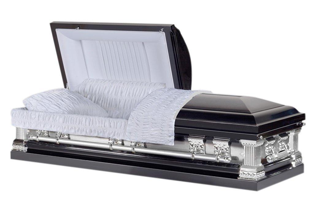 Black Funeral Casket