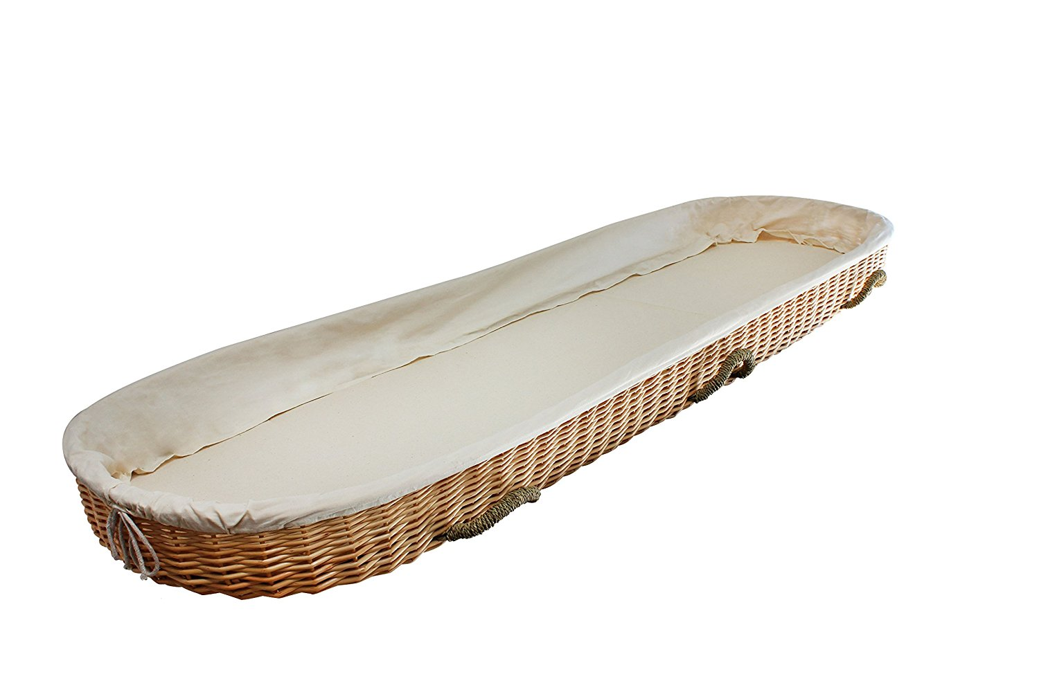 Natural Burial Coffin/Casket Carrier for Shroud burial or cremation made of Willow