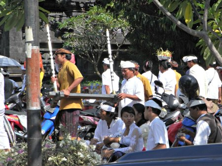 Mass cremation event, Bat Cave Temple,  Bali