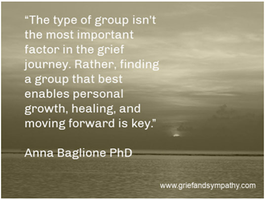 quote about grief support groups