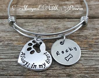 Dog Memorial Charm Bracelet
