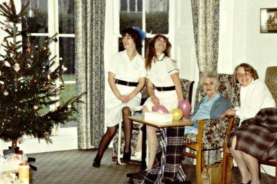 Elizabeth Postle, Matron of Marshlands Nursing Home - Right.  At Christmas