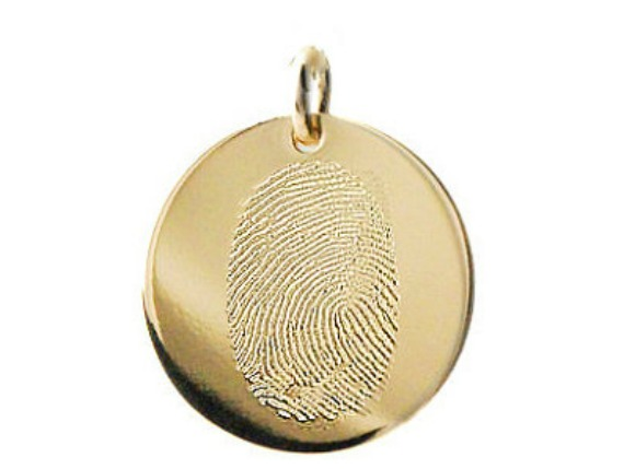 Gold Fingerprint Memorial Pendant