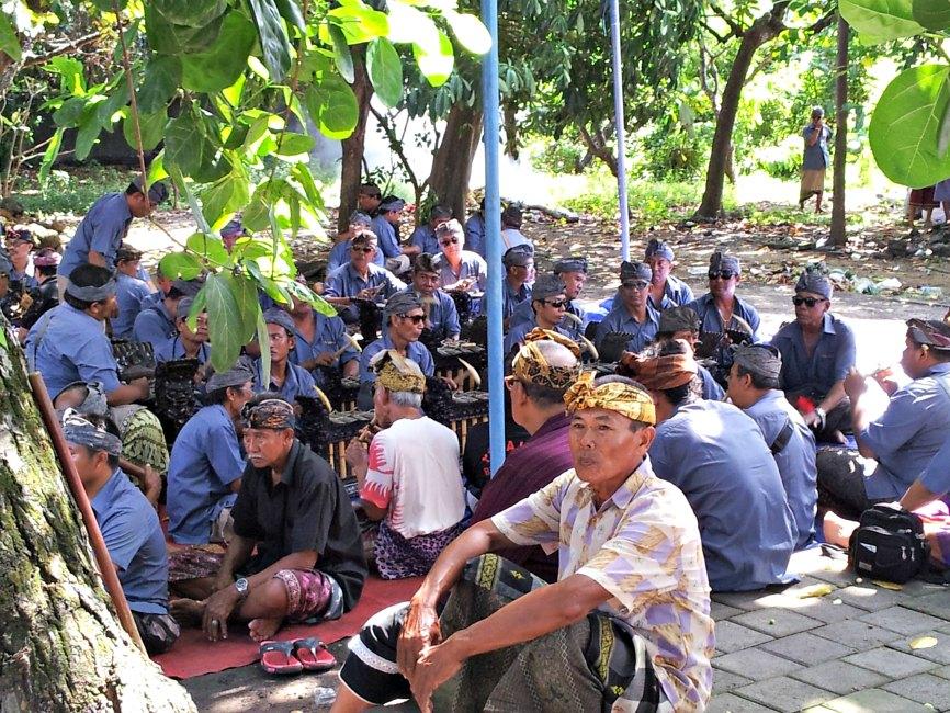 Balinese gamelan musicians