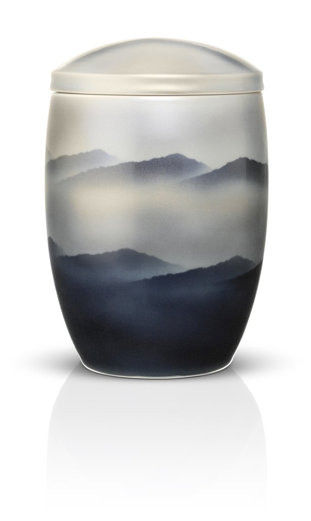 Ceramic Urn for Ashes - Misty Mountains