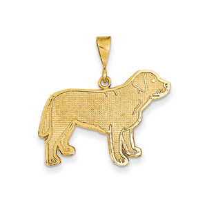 Gold dog memorial necklace - various breeds