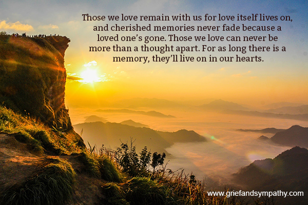 Those we love remain with us - quote