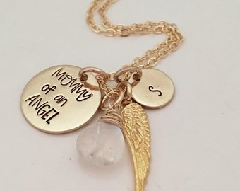 Gold Miscarriage Necklace - Mommy of an Angel