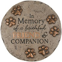 pet memorial garden stone with quote