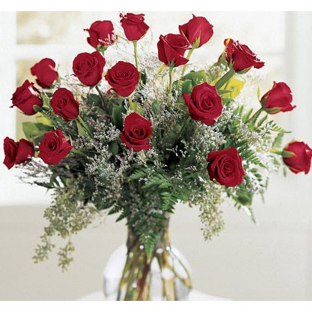Red Roses in a Sympathy Bouquet