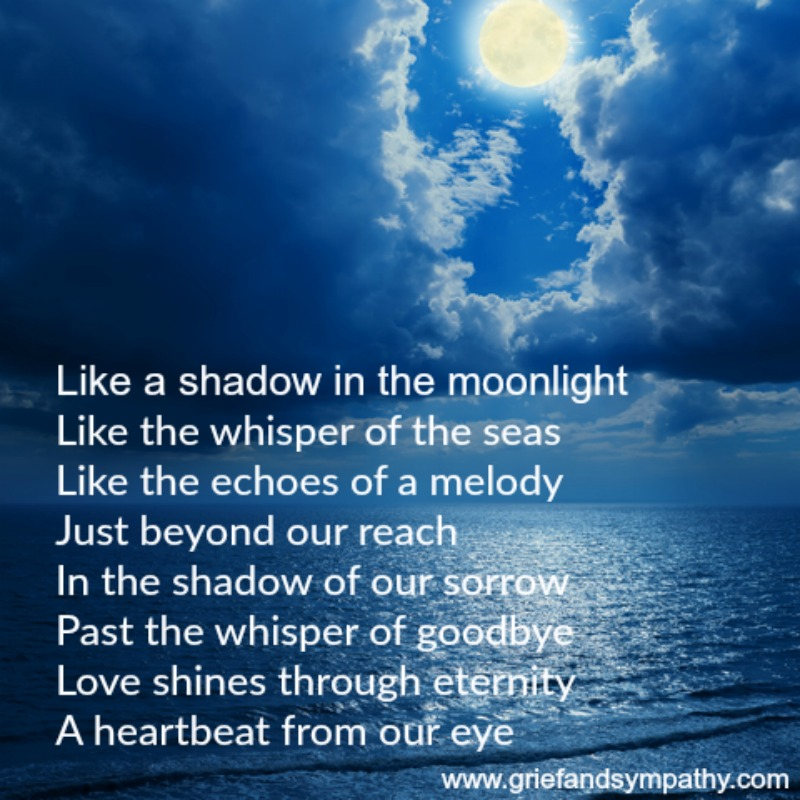 Short Funeral Poem - Like a shadow in the Moonlight
