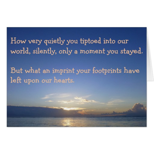 Sympathy Card for Loss of a Child with Comforting Quote