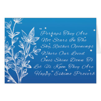 Perhaps they are not stars - Eskimo poem - greeting card