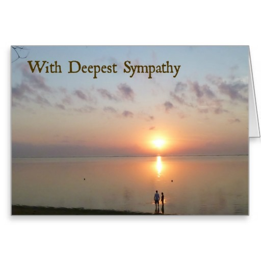 Sympathy Card for a Miscarriage or Loss of a Child  Couple Holding Hands in the Sea at Sunrise