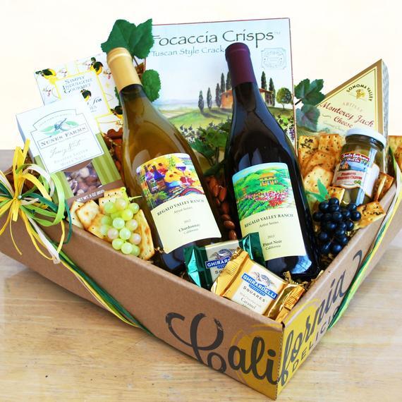 Sympathy Wine Gift Basket
