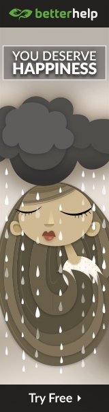 You Deserve Happiness - Girl under a dark cloud - Online Counselling Banner