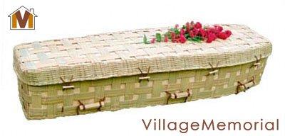 Green Coffin - Natural Bamboo Lattice