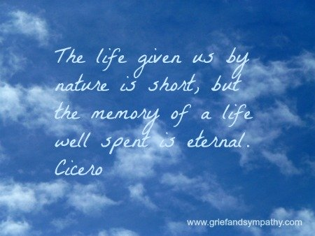 Bereavement quote by Cicero