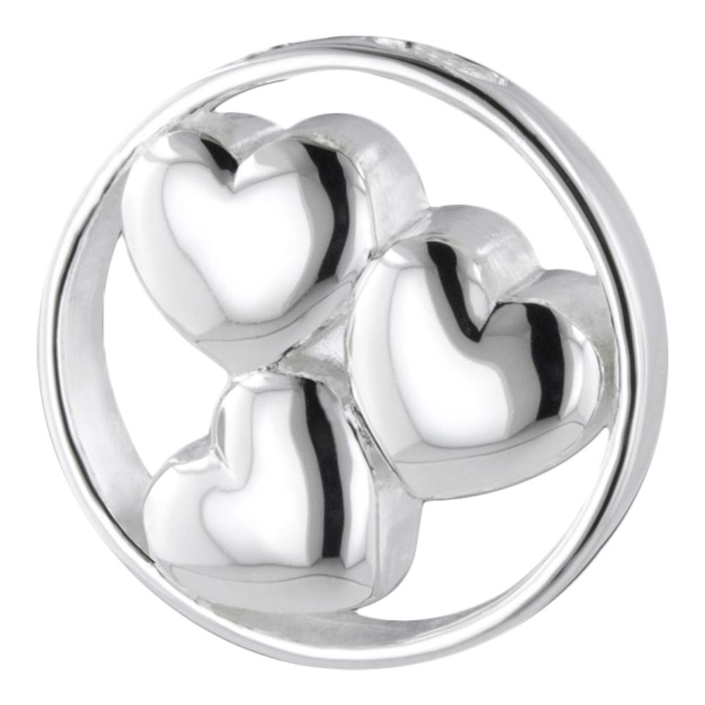 Three Hearts Cremation Necklace