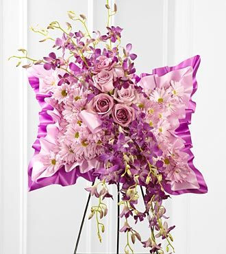 Pink Floral Pillow Arrangement on Stand