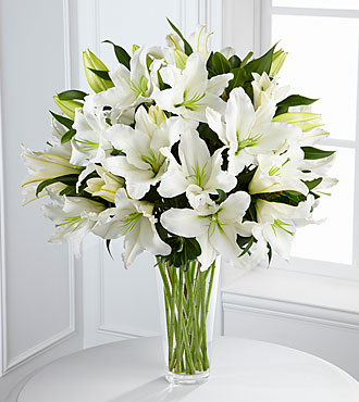 White Bouquet of Sympathy Flowers