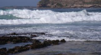 strong waves on the sea