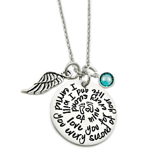Miscarriage Necklace with Charm - I carried you every second of your life.