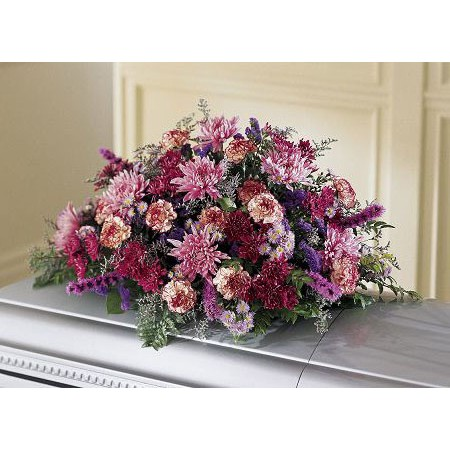 Kremp Assorted Pinks and Purples Coffin Spray