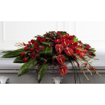 Exotic Casket Flowers Anthurium and Orchids
