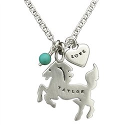 Horse memorial jewelry - silver necklace