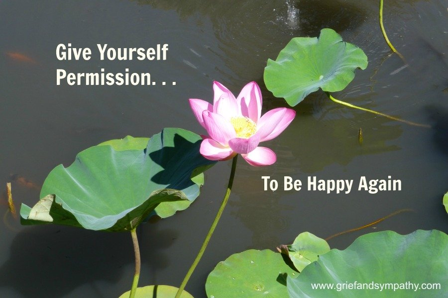 Waterlily on Pond.  Give Yourself Permission to be Happy