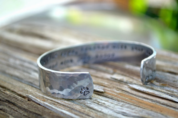 Pet Loss Bracelet with Paw Print