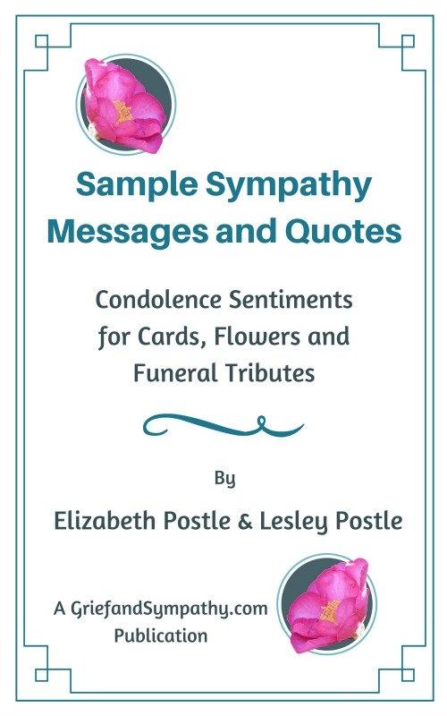 Sample Sympathy Messages by Elizabeth Postle and Lesley Postle