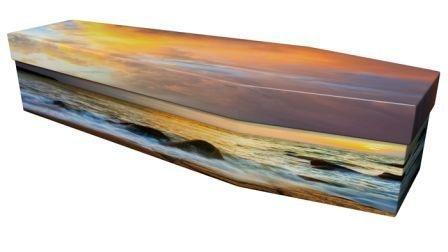 Sunrise Design Cardboard Coffin