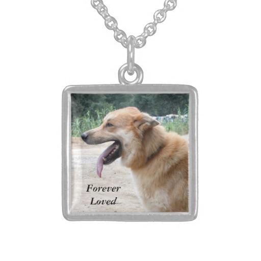 Silver Pet Memorial Pendant with Photo