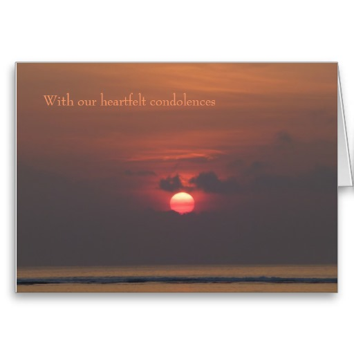 Sympathy Card With Heartfelt Condolences
