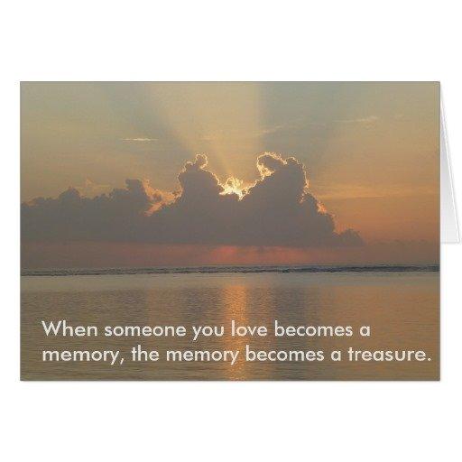 Bereavement Card with Quote.  Sunrise Scene