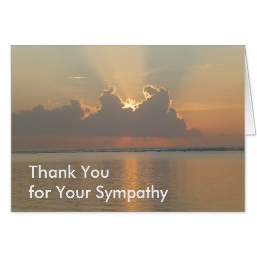 Bereavement Thank You Notes For Cards Flowers And Attending The Funeral